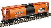 Atlas 20005779 - HO ACF 3-Bay Cylindrical Hopper - Hooker Chemical #32031
