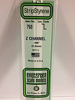 Evergreen Scale Models 753 - Opaque White Polystyrene Z Channel .100In x 14In (4 pcs pkg)