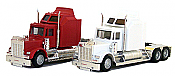 Herpa Models 35234 HO American Tractor Only - Kenworth W-900  X-Large Sleeper (Undecorated - white)