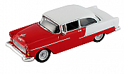 Schuco 452617502 HO 1955 Chevrolet bel Air Red/White - Assembled
