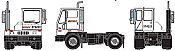 Athearn RTR 29139 HO Scale - Modern Yard Tractor - BNSF
