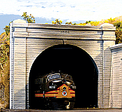 Chooch Enterprises HO Scale Double-Track Concrete Tunnel Portal 6-5/8 x 5-1/4 16.8 x 13.3cm