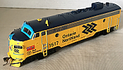 Rapido Trains 222529 - HO GMD FP7 - DCC/Sound - Ontario Northland (Chevron) #1502