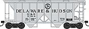 Bowser HO 42214 70-Ton 2-Bay Coverde Hopper with Open Sides -  Delaware & Hudson D&H 2955