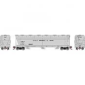 Athearn Genesis G15857 - HO ACF 4600 3-Bay Centerflow Hopper - Gulf Mobile & Ohio #81016