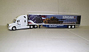 Trucks n Stuff 16104 HO - Cascadia Sleeper-Cab Tractor - 53ft Dry Van Trailer - Exchange