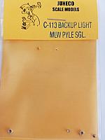 Juneco Scale Models C-113 Back Up Light - MLW Pyle Single w/jewels, plastic (2/pkg)