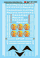 Microscale Decals 871052 HO Canadian Pacific AC4400CW Diesels 1997+
