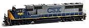 Athearn G69223 HO EMD SD70M w/DCCReady, CSX #4679