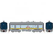 Athearn Genesis G19547 HO Scale - F7B EMD F-Unit Diesel - DCC & Sound - Santa Fe/ Dual Service #345A