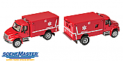 Walthers 11931 HO SceneMaster International(R) 4300 EMS Ambulance - Assembled - Red
