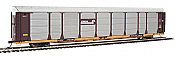 WalthersProto 101331 HO - 89ft Thrall Bi-Level Auto Carrier - Ready To Run - Conrail Rack, TTGX Flatcar #158397