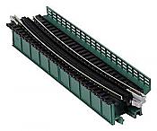 Kato USA Inc 20-471 N Scale Single-Track Curved Deck-Girder Bridge, Code 80 Track - Assembled - Unitrack