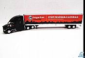 Trucks n Stuff Kenworth T680 Sleeper Cab Tractor with 53ft Dry Van Trailer- Assembled, Timer Products OSU scheme