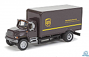 Walthers HO 11294 SceneMaster International(R) 4900 Single-Axle Box Van - Assembled - UPS New Shield Scheme