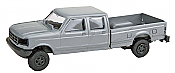 Trident Miniatures 900786 HO Trucks - Ford F-350 Crew Cab Pick-Up - Metallic Silver