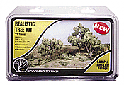 "Woodland Scenics 1111 All Scale Realistic Trees Kits - Green Deciduous Medium Green - 3/4 - 3"" Tall pkg(21)"