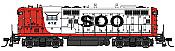 WalthersProto 49710 HO - EMD GP9 Phase II, High Short Hood - Standard DC - Soo Line #2412