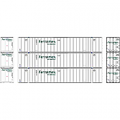 Athearn RTR 72775 - HO 53ft Stoughton Container - Ferromex (3pk)