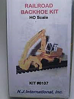 N.J International  Inc Railroad Backhoe Kit HO scale