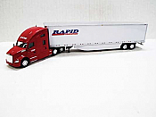 Trucks n Stuff TNS042 - HO Kenworth T680 Sleeper-Cab Tractor - 53ft Dry Van Trailer - Rapid Transport