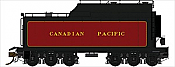 Rapido Trains 600093 HO Scale Canadian Pacific Royal Hudson 12,000 Gallon Tenders - Oil Conversions Tender w/Commonwealth Trucks