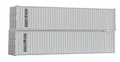 Deluxe Innovations 5121 N Scale 40 FT Dual Logo Panel Corrugated Container 2-pack - Sea-Land - #1