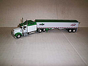 Trucks n Stuff TNS083 HO Kenworth W900L Sleeper-Cab Tractor w/Grain Trailer - Cargill-Loyall Life