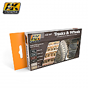 AK Interactive 557 - Track and Wheels Acrylic Set - 6 Bottles - 17ml each