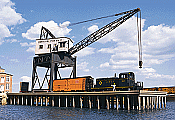Walthers 3067 HO Cornerstone Pier & Traveling Crane