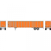 Athearn RTR 72784 - HO 53ft Wabash Plate Trailer - Owner Operator #2 #A430139