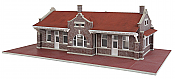 Walthers Cornerstone 4055 - HO Structure - Brick Mission-Style Santa Fe Depot - Kit