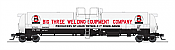 Broadway Limited 6314 - HO Cryogenic Tank Car - Big 3 Welding Equipment (2pkg)