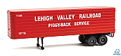 Walthers SceneMaster 2422 - HO 35ft Fluted-Side Trailer - Lehigh Valley #T325 (2)