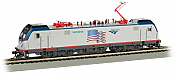Bachmann 67404 HO - Siemens ACS-64 - DCC & Sound - Amtrak/Demonstrator (Flag)