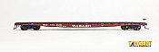 Tangent Scale Models HO 11015-10 - GSC/GSI 60 ft Flatcar - Wabash - Original Brown 1956 #438