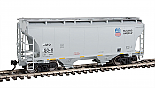 Walthers 7546 HO Scale - 39Ft Trinity 3281 2-Bay Covered Hopper - Union Pacific CMO #15046