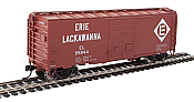 Walthers Mainline 2254 - HO 40ft ACF Welded Boxcar w/8ft Youngstown Door - Erie Lackawanna #55844