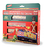 Kato 106-2015-DCC - N Scale 2015 Operation North Pole Christmas Train 4-Car Set - w/ DCC Installed