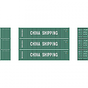 Athearn 27157 - HO 40ft Low-Cube Container - China Shipping (3/pkg)