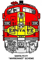 Stoddarts Ltd. 301C - 3D Railroad Wall Artwork - Santa Fe F7 (Warbonnet Scheme) #301C