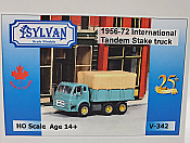 Sylvan Scale Models 342 HO Scale - 1956/72 IHC-190 Tandem Stake Truck - Unpainted and Resin Cast Kit