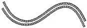 Atlas 2500 - N Code 80 Super-Flex Track - 29-1/2in (74.9cm) Long - Black Ties