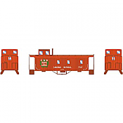 Athearn 14441 N Scale - 30Ft 3-Window Caboose, CN #77137