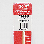 K&S Engineering 9885 All Scale - 12inch Long Brass Channel - 0.014inch Thick x (1/8 x 1/8 inch Leg Lengths)