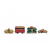 Noch 14874 - HO Coffins w/ Funeral Wreaths (4 pkg)