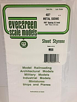 Evergreen Scale Models 4527 - .060in Opaque White Polystyrene Corrugated Siding (1 Sheet)