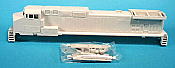 "Rail Power Products HO #537 GE Dash 9-44CW, Undec Shell/Chassis ATSF ""Gull Wing"""
