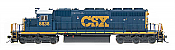 Intermountain Railway Diesel EMD SD40-2 DC-DCC Installed CSX 8833