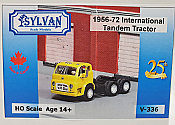 Sylvan Scale Models 336 HO Scale - 1956/72 IHC-190 Tandem Tractor - Unpainted and Resin Cast Kit